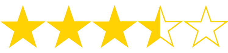 Image result for 3,.5 out of 5 stars